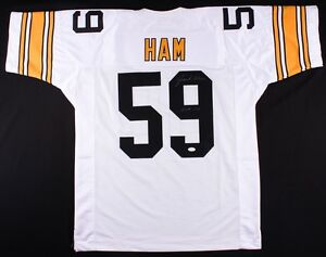 db6677d74aa Image is loading Jack-Ham-Signed-Steelers-Jersey-Inscribed-034-HOF-