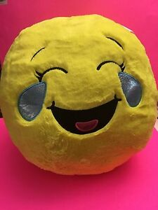 Image Is Loading NWT JUSTICE GIRLS MEGA EMOJI PLUSH PILLOW TEARS