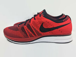 d642ad0651449 Image is loading Nike-Air-Flyknit-Trainer-University-Black-Red-White-