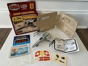 STAR-WARS-X-WING-FIGHTER-MICRO-COMPLETELY-UNUSED-MIB-VINTAGE-KENNER-1982-LUKE-R2