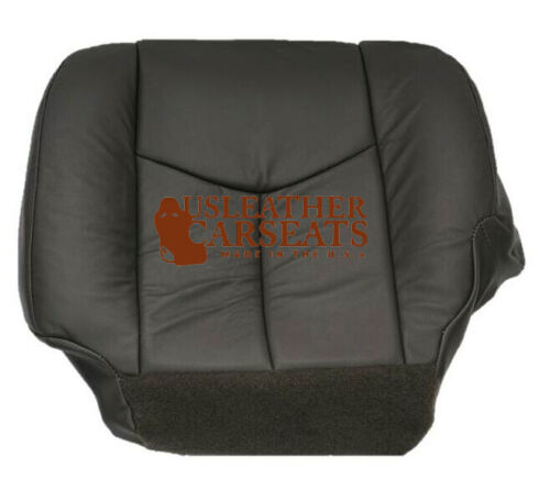 2005 Chevy Avalanche-DRIVER Side Bottom Replacement Leather Seat Cover Dark Gray