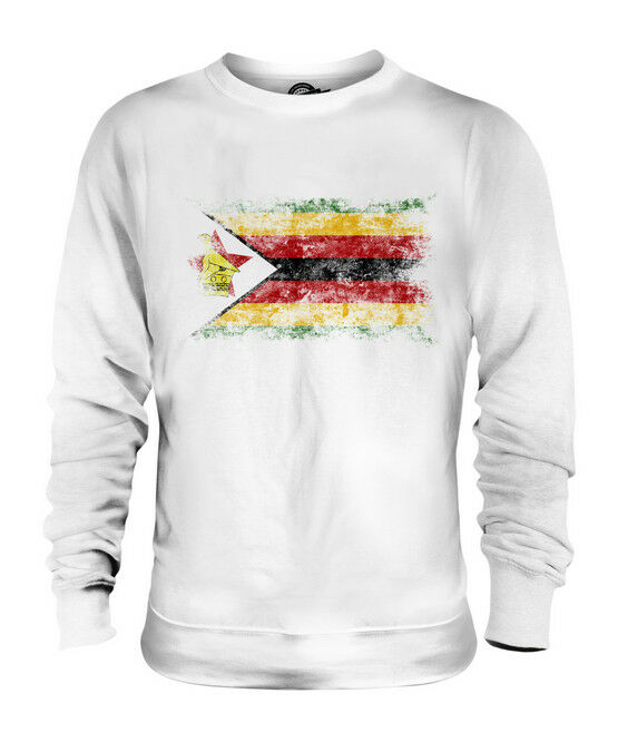 ZIMBABWE DISTRESSED FLAG UNISEX SWEATER TOP ZIMBABWEAN SHIRT FOOTBALL JERSEY
