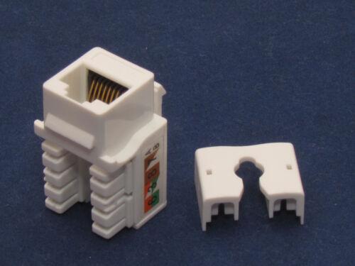 100 Pcs lot Keystone Jack CAT6 White Network Ethernet 110 Punch Down 8P8C RJ45