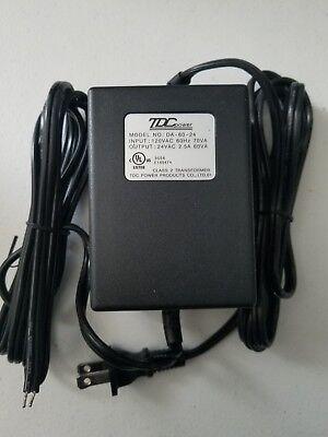 TDCPpower DA 60-24 24VAC 2.5A//60VA Power Supply Adapter Transformer Class 2