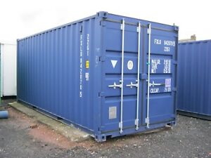 Shipping Containers For Sale Ebay >> Details About One Trip 20ft Shipping Container S For Sale 2095 Vat Portable Cabin Store