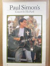 Vintage 1991 Paul Simon's original Concert in the Park music poster 9965