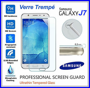 Capable Samsung Galaxy J7 2015 Tempered Glass Vitre De Protection D'écran Verre Trempe Jolie Et ColoréE