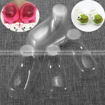 20pcs/lot Baby Feet Display Booties Shoes Socks Clear Plastic PVC Mold S8