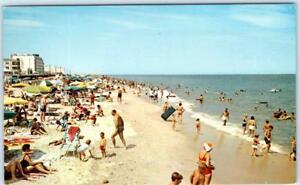 REHOBOTH-BEACH-Delaware-DE-BEACH-SCENE-ca-1960s-Postcard