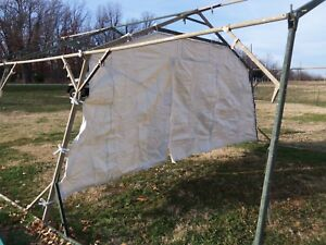 Details about MILITARY SURPLUS TEMPER TENT- ROOM DIVIDER-- HUNTING    NOT  COMPLETE TENT   ARMY