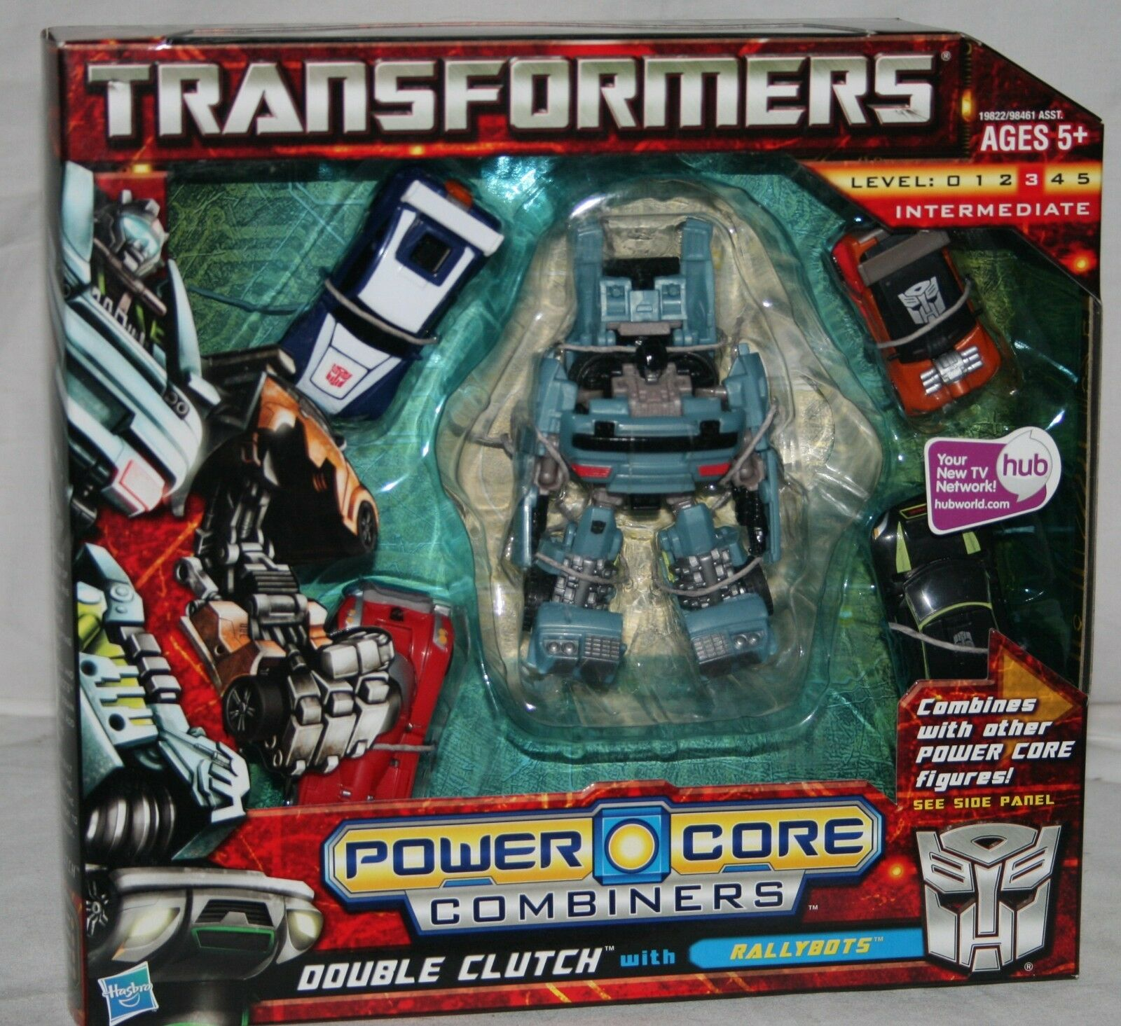 Transformers powercore combimers double double double clutch with rallybots misb e59e51