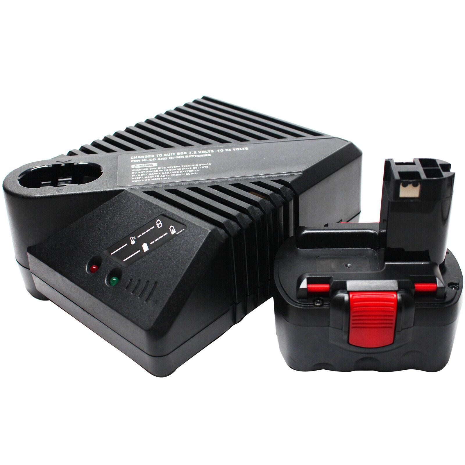 14.4V Battery 1.3Ah & UniCharger for Bosch 33614, 52314, GDS 14.4 V, 35614