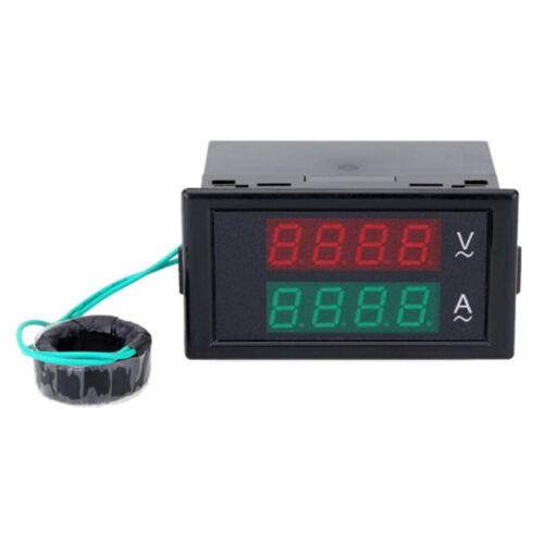 Dual Digital Wechselspannungs LCD Voltmeter Amperemeter Tester Messgerät