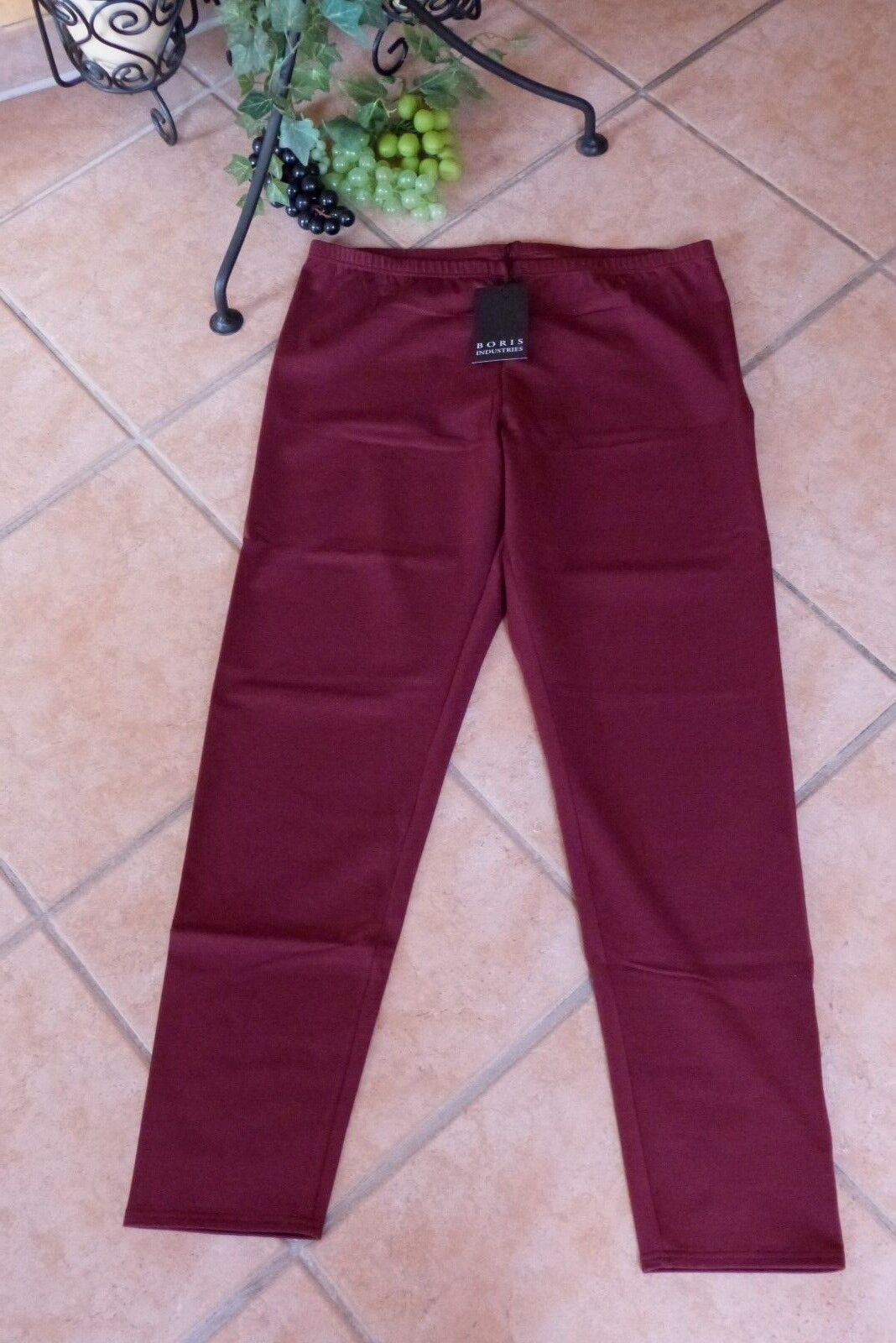 BORIS INDUSTRIES Leggings Winter 40 42 (2) NEU  bordeaux Double Face LAGENLOOK
