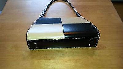 Damen Handtasche Muster beige/schwarz
