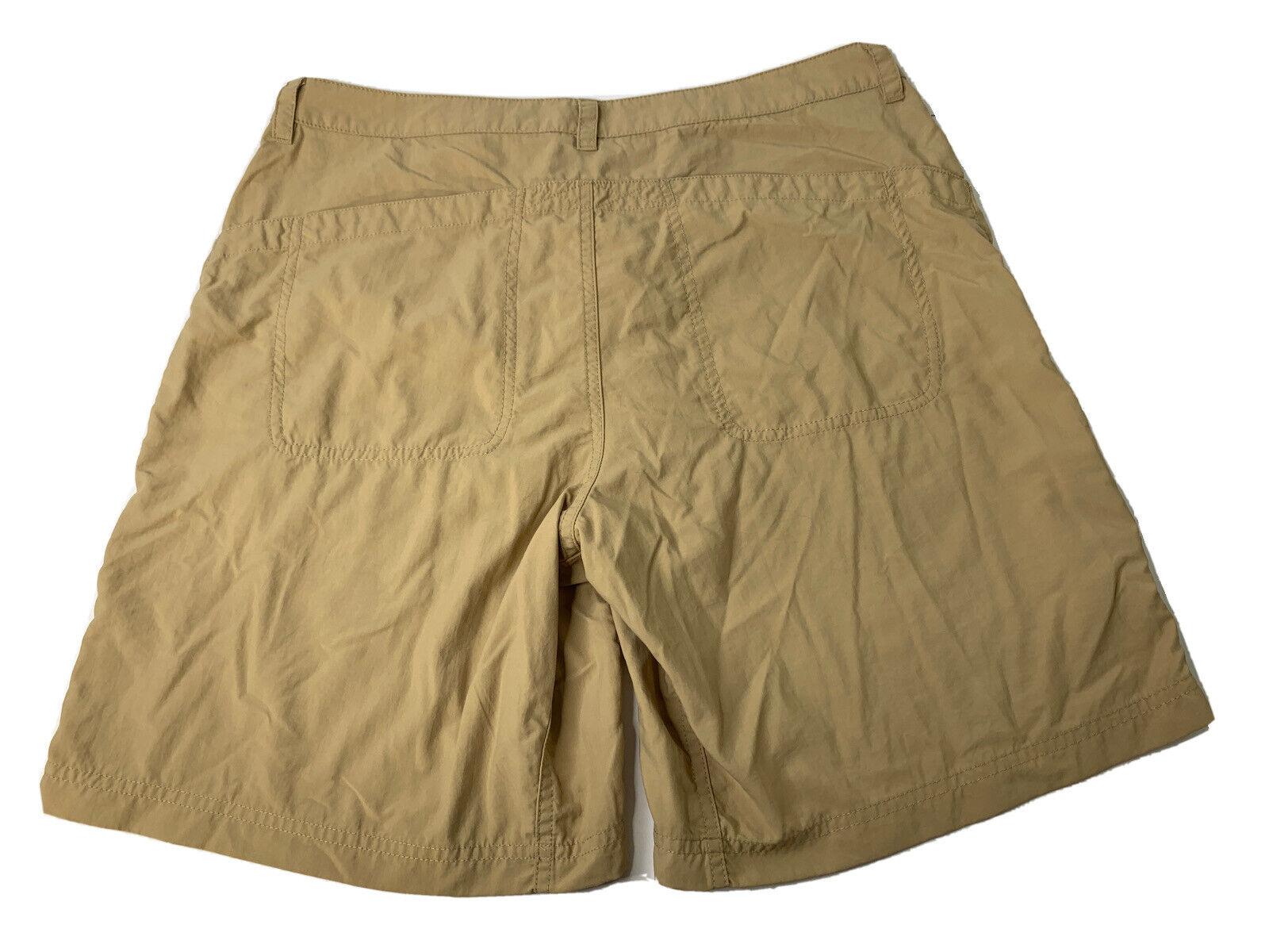 Mountain Hardwear Womens 10 Medium Tan Brown Lightweight Outdoor Nylon Short EUC