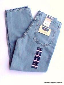 Nwt Saddlebred Herren Klassische Passform Jeans Hell Blau 32w X 32l Einfach Zu Schmieren Jeans Herrenmode