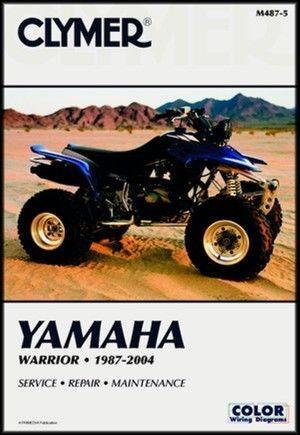YAMAHA WARRIOR 350 YFM350X YFM350 YFM 350X X MANUAL 96 97 98 99 00 01 02 03 04