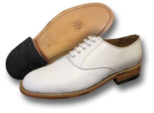 WHITE LEATHER NAVAL SHOES 05010