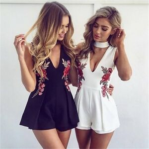 2017-New-Women-039-s-Sexy-V-Neck-Bodycon-Party-Jumpsuit-Summer-Beach-Skirt-Rompers