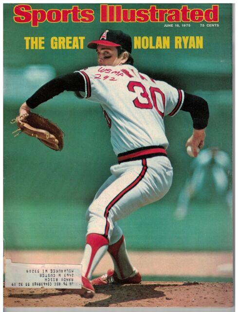 June 16, 1975 Sports Illustrated Nolan Ryan Cover