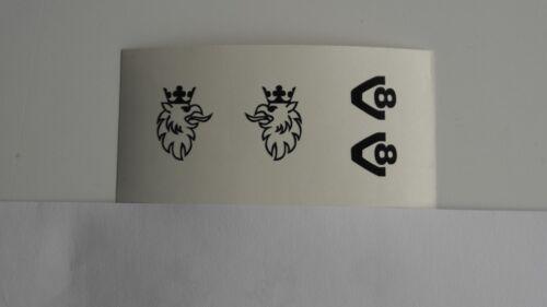 2 De Couleur Préhension /& v8 diapositives Autocollants en 1:14,5 pour SCANIA miroir de Verkerk