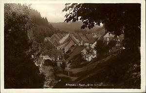 ALTENAU-b-Goslar-Harz-alte-AK-um-1930-Partie-vom-Schlackenbrink-aus-gesehen