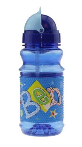 BEN Trinkflasche mit Klappdeckel und pop-out Strohhalm BEN von H & H