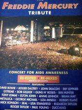Freddie Mercury Tribute Aids Awareness Concert 1990's Advert A4 Page Queen