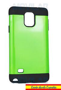 Funda-Carcasa-Samsung-N910-Galaxy-Note-4-antigolpes-tipo-Spigen-color-verde