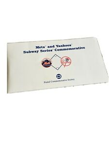 POSTAL COMMEMORATIVE SOCIETY METS AND YANKEES SUBWAY SERIES COMMEMORATIVE 2000