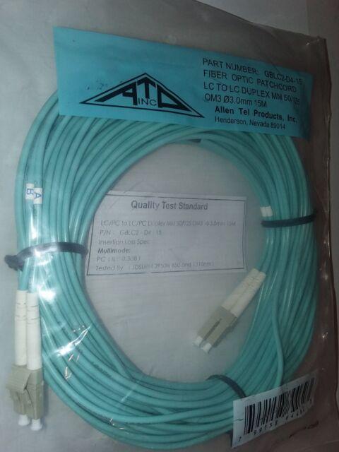 AFOP//Corning LC-LC Multi-Mode OM3 Duplex DX 1M Fiber Optic Patch Cord OFNR