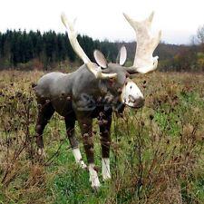 ELCH 197 cm lebensgroß Deko Garten Tier WERBE Figur KUH BULLE WEIHNACHTEN WALD