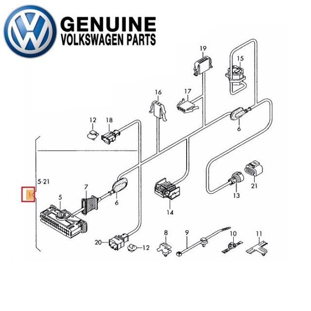 genuine volkswagen door wire harness cable front driver side oem 1k5971120g  for sale online | ebay  ebay