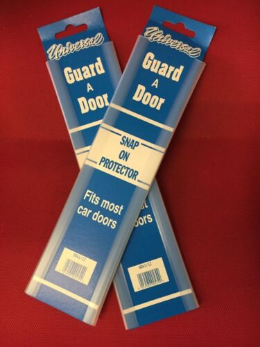 4 CLEAR CAR DOOR EDGE GUARD PROTECTOR  CLEAR 2 PACK  4 FT TOTAL LENGTH