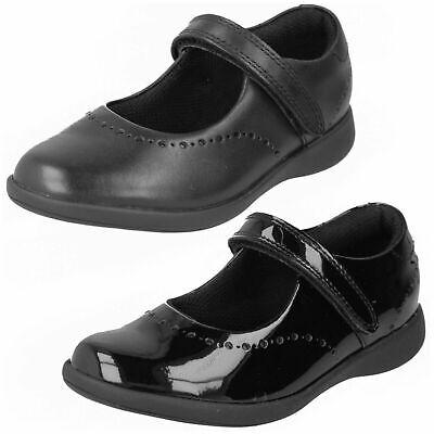 Clarks Girls 'Etch Craft' Black Leather