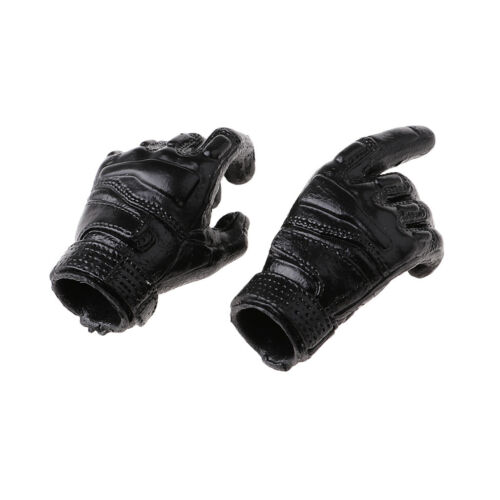 """1//6 Black Soldier Gloves Hands Accessory for 12/"""" Hot Toys HT Male Figures"""