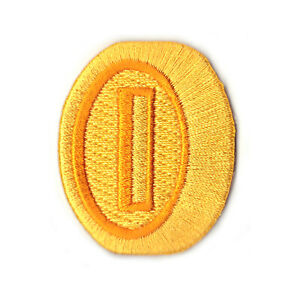 Nintendo-Super-Mario-World-Kart-Gold-Coin-Embroidered-Iron-on-Patch