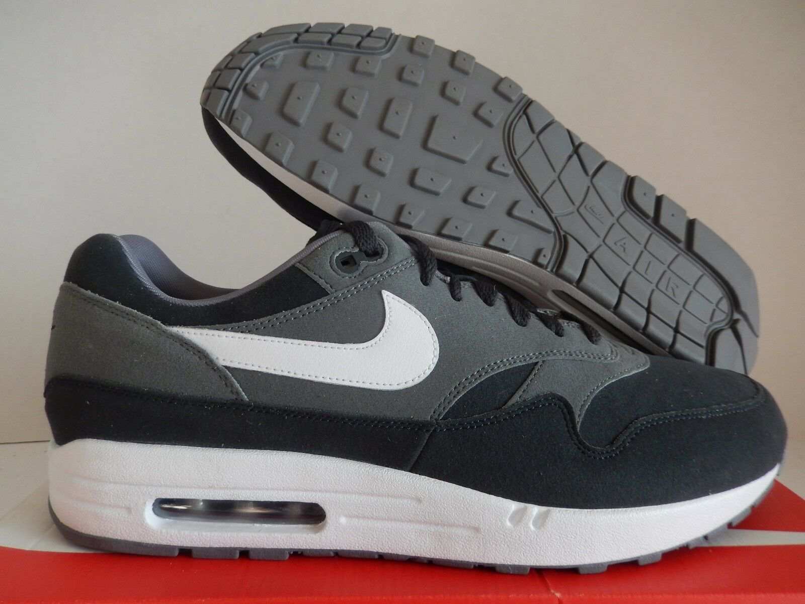 NIKE AIR MAX 1 ID BLACK-GREY-WHITE Price reduction The latest discount shoes for men and women