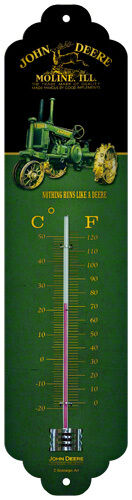 John Deere Nothing runs thermomètre en tôle panneau sign bouclier tracteur tracteur