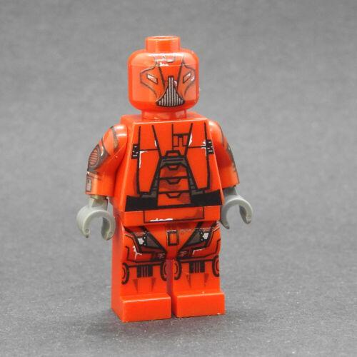 Custom Star Wars minifigures HK48 red on lego brand bricks