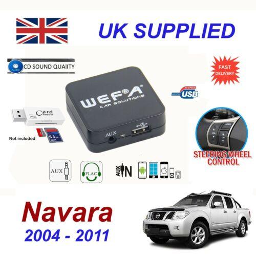 Nissan Navara USB AUX SD Memory Stick /& Card Reader music streaming module