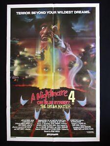 A-NIGHTMARE-ON-ELM-STREET-4-1988-Original-Australian-movie-poster-Freddy-horror