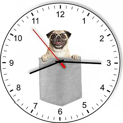 Pug In Your Pocket Dog Kitchen Living Room Wall Clock 734106024584 Ebay