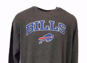Buffalo Bills Grey Mens Thermal Shirt Long Sleeve Big and Tall New ... 26996d074