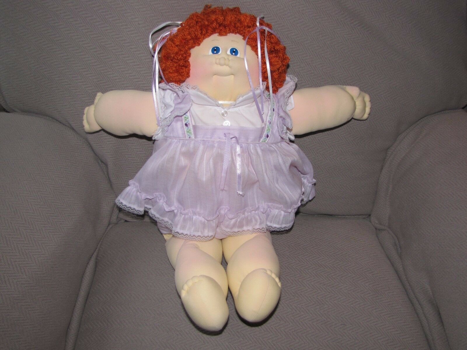 1985 Little People Soft Sculpture Doll Cabbage Patch Kid Xavier Roberts rot Hair