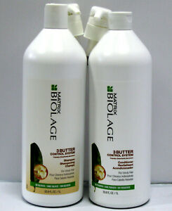 Biolage-3-Butter-Control-Shampoo-amp-Conditioner-33-8-oz-Liter-Set-PUMPS-Matrix