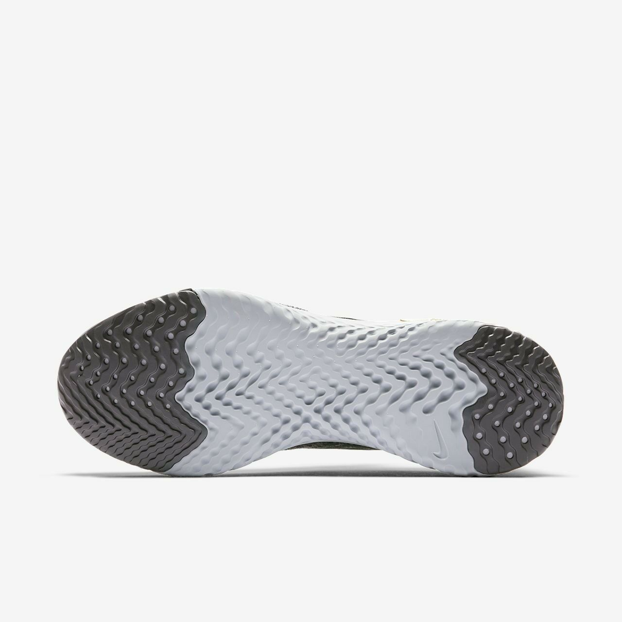 Nike Epic reagire Flyknit EU45 Thunder Grigio torba Nero muschio di torba Grigio metallica peltro 259550
