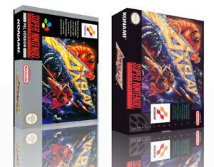 Axelay-SNES-Replacement-Game-Case-Box-Cover-Artwork-Art-No-Game