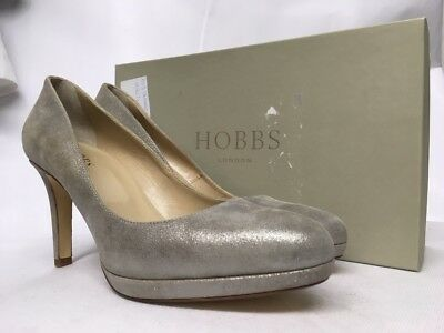 Various Sizes RRP £139. Hobbs Juliet Patent Nude Pink Court Shoes
